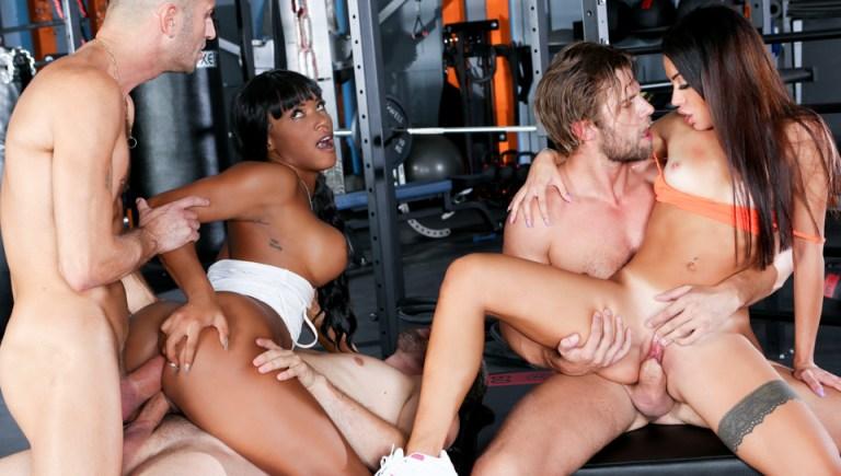 Rocco's Fitness Sluts: DP Edition