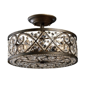 E112864 Amherst Semi Flush Mount Ceiling Light   Antique Bronze at     E112864 Amherst Semi Flush Mount Ceiling Light   Antique Bronze
