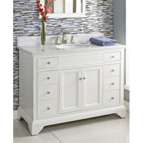 "f1502v48/ft4922wc/fs100wh framingham over 45"" bathroom vanity"