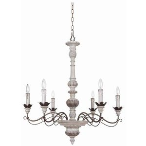 C35226awbd Rosedale Mid Sized Chandelier Antique White And Distressed Bronze