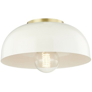 HUDH199501SAGBCR Avery Semi Flush Mount Ceiling Light   Aged Brass     HUDH199501SAGBCR Avery Semi Flush Mount Ceiling Light   Aged Brass Cream