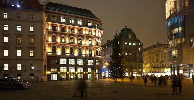 Viena en la noche. austria Foto gratis