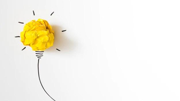Ilustração de lâmpada em fundo branco
