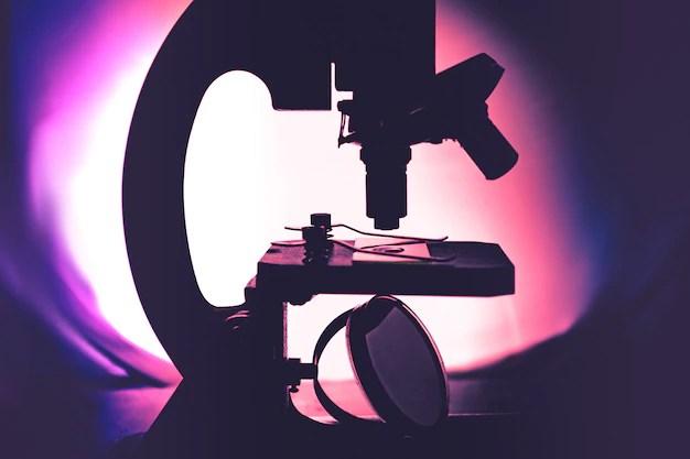 In vitro microscopio exame pesquisa médica