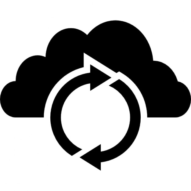 Data Actualization On Cloud Icons Free Download