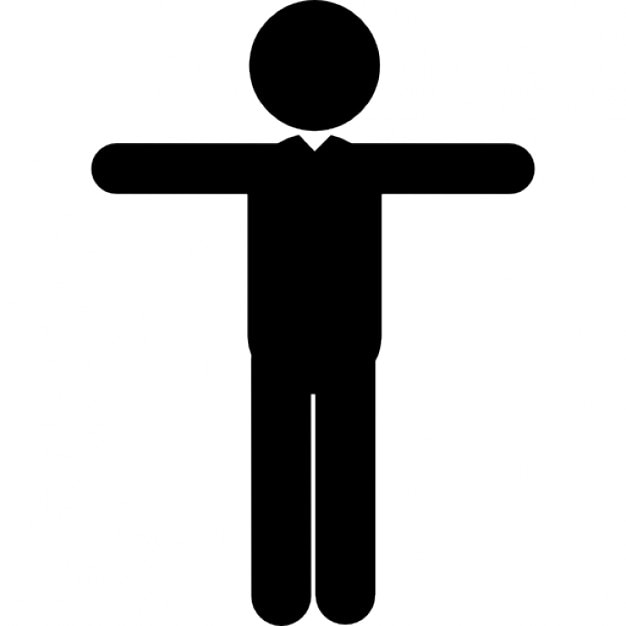 Image result for picture of a person standing with arms extended out to the side