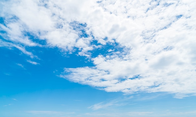 Blue Sky Background With Clouds Photo Free Download