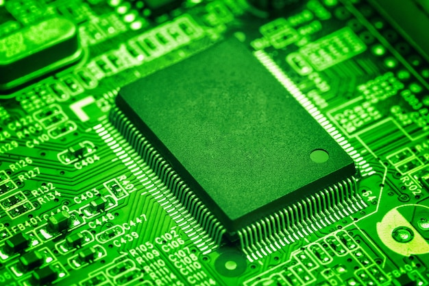 Central Processor Chip On Circuit Board, Technology