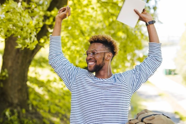 Image result for Excited black man