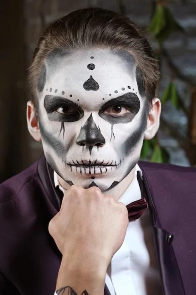 Sugar Skull Makeup Face Painting Art