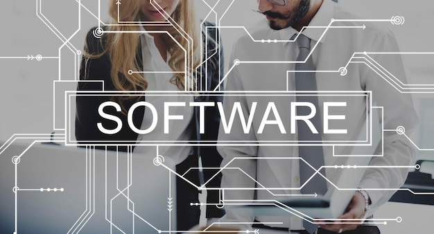Software digital electronics internet program web concept Free Photo