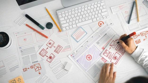 Working hard to make a business development plan
