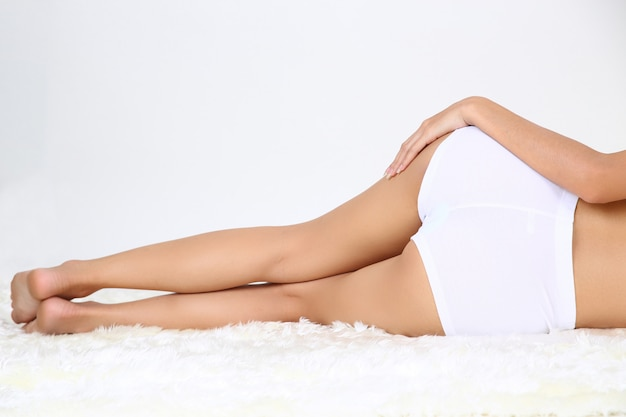 Young beautiful woman with perfect body Free Photo
