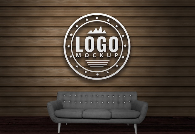 Download Free Download 3d Wall Logo Mockup Psd Yellowimages
