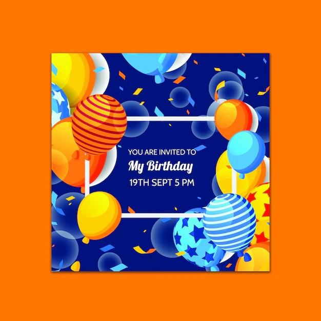 Free Psd Beautiful Birthday Card Template