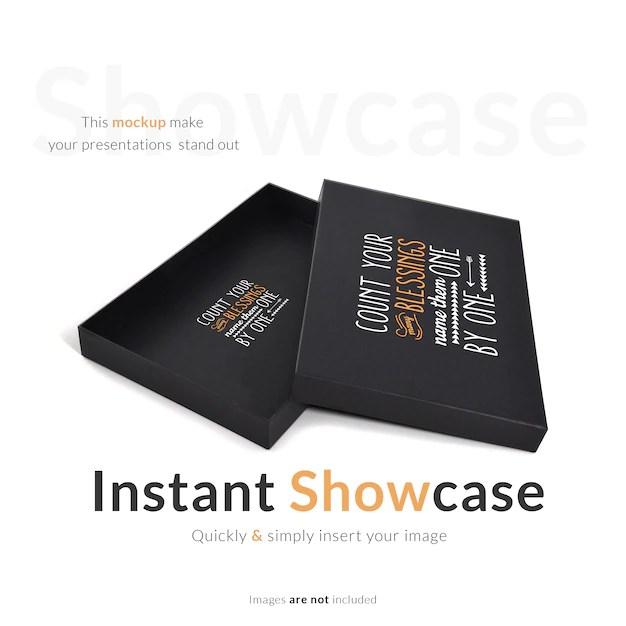 Download Black gift box mock up PSD file | Free Download