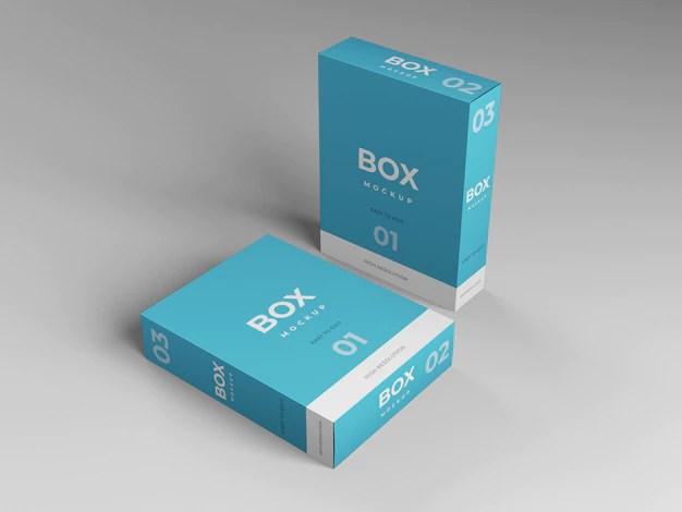 Download Premium PSD | Box mockup template