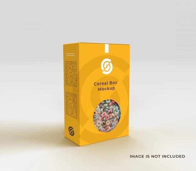 Download Cereal box mockup | Premium PSD File