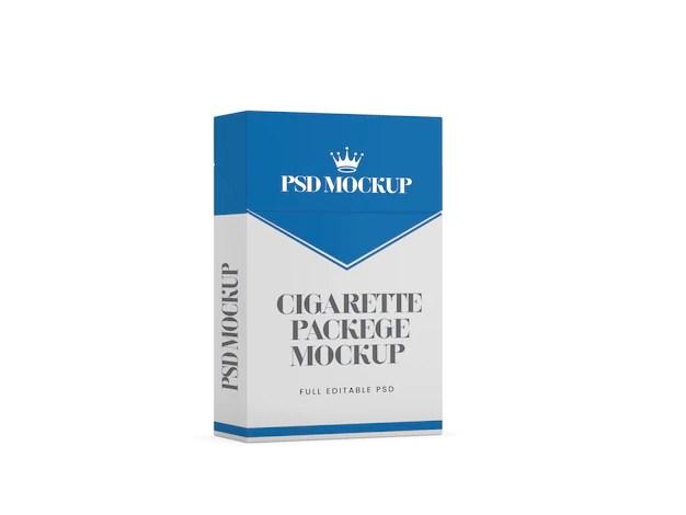 Download Cigarette box 3d mockup template | Premium PSD File