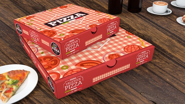 Download Creative pizza boxes mockup PSD file | Free Download