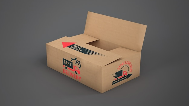 Download Delivery box mockup PSD file | Free Download