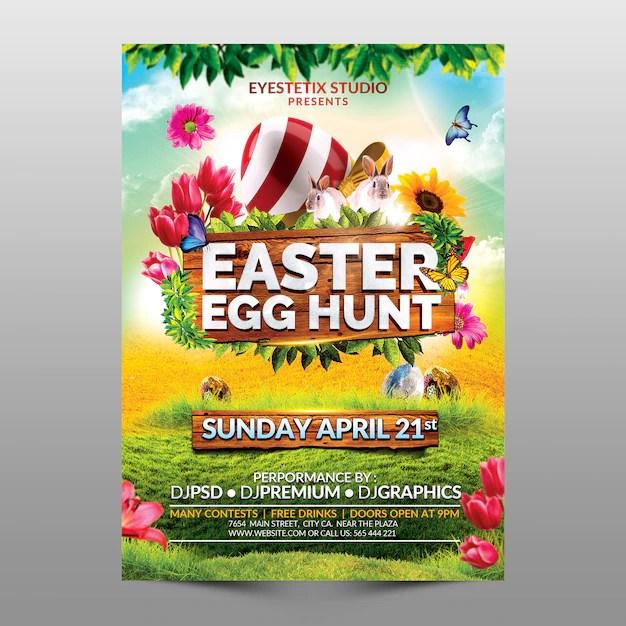 Easter egg hunt Premium Psd