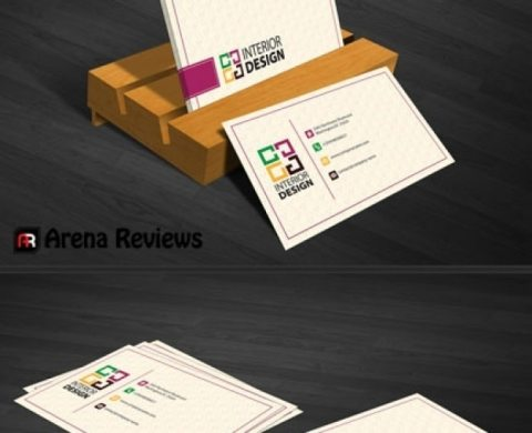 Interior decoration business card template PSD file   Free Download Interior decoration business card template Free Psd