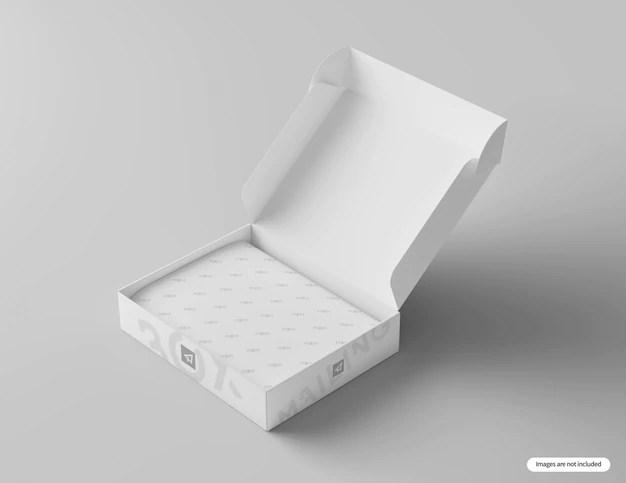 Download Premium PSD | Mailing box mockup