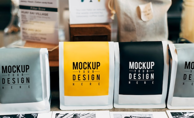 Download Free PSD | Mockup of coffee bean packaging