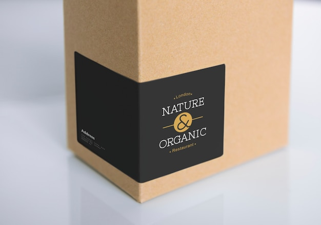 Download Free PSD | Natural paper box packaging mockup