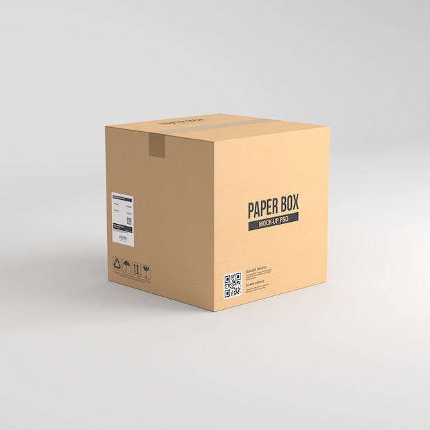 Download Paper box mockup PSD file | Premium Download