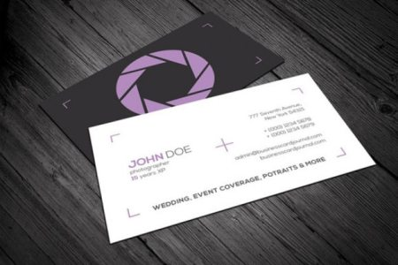 Photography business card template PSD file   Free Download Photography business card template Free Psd