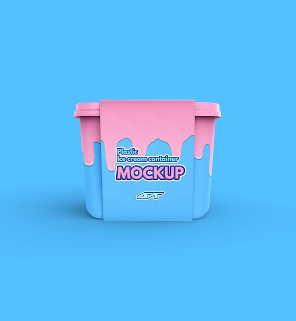 Download Plastic ice cream container box mockup | Premium PSD File