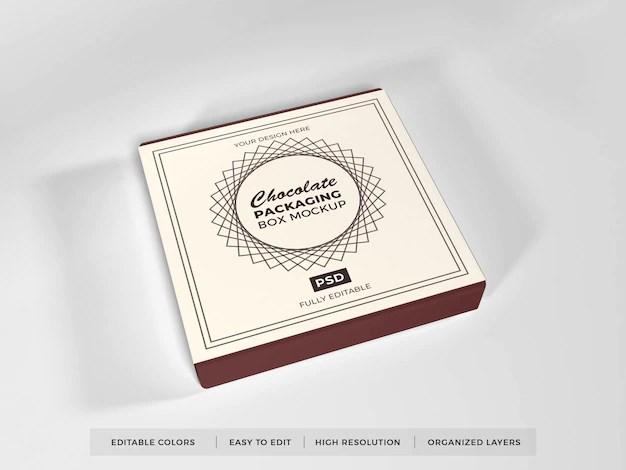 Download Realistic chocolate box packaging mockup | Premium PSD File