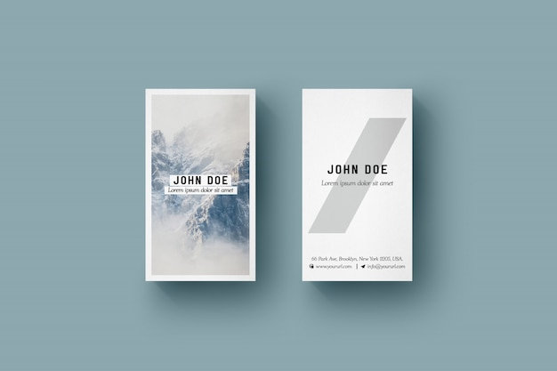 Vertical Business Card Vectors Photos And PSD Files