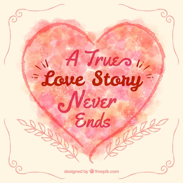 Download A true love story never ends heart Vector | Free Download