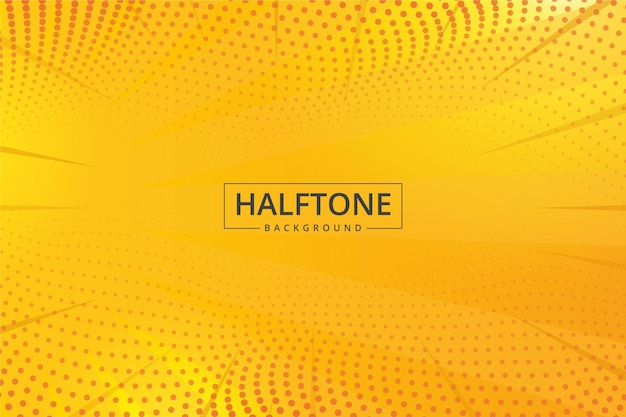 Free Vector Abstract Halftone Background Yellow Shades