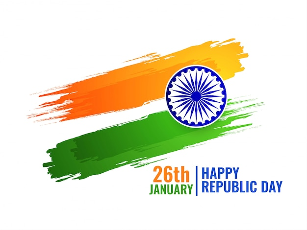 Free Vector Abstract Indian Flag Tricolor Background