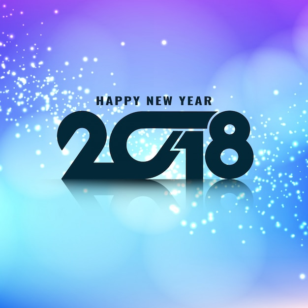 Abstract stylish glowing new year 2018 background Vector   Free Download Abstract stylish glowing new year 2018 background Free Vector