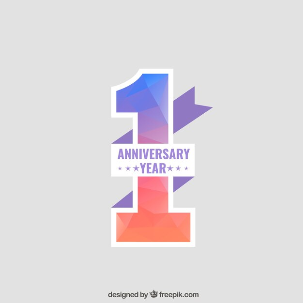 Anniversary Background Free Vector