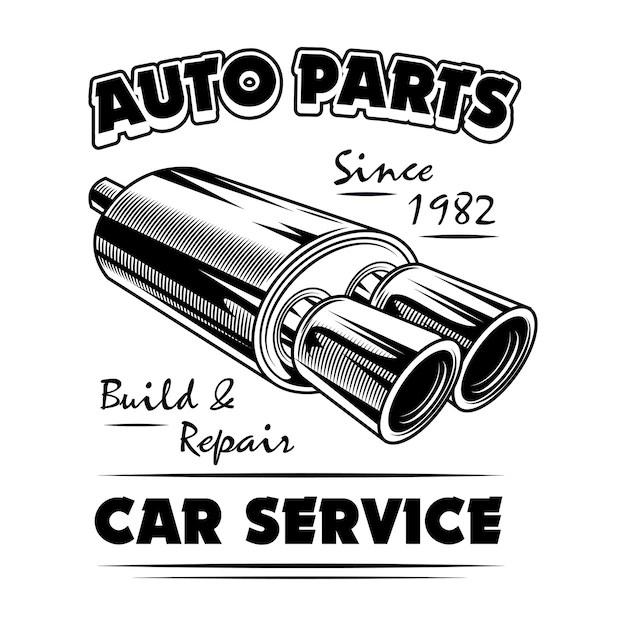 auto parts vector illustration chrome