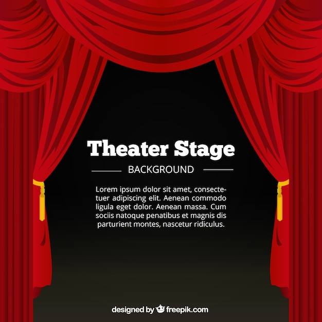 red curtains and theater stage