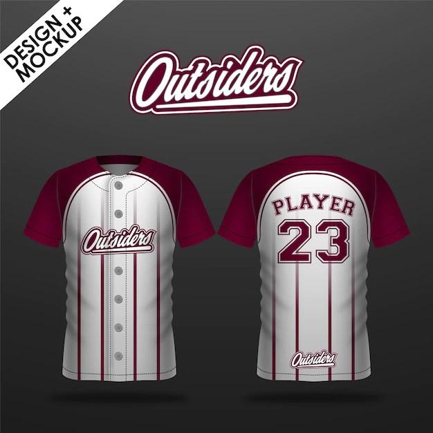Download Baseball jersey design and mockup | Premium Vector
