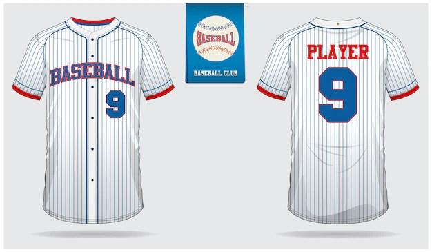 Download Baseball jersey template design Vector   Premium Download