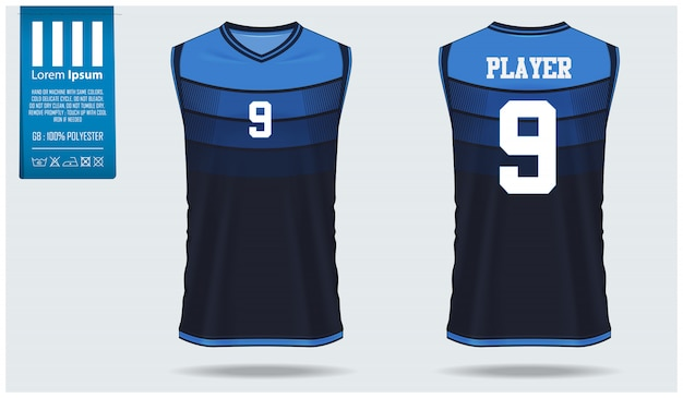 Download Basketball jersey mockup template design | Premium Vector