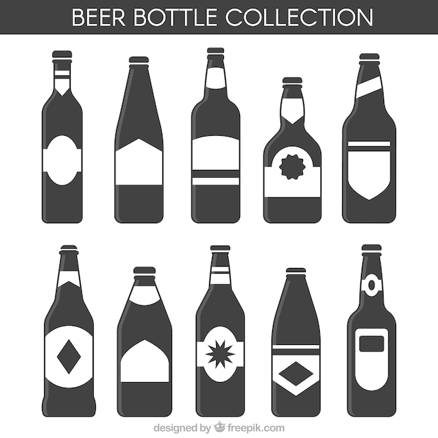 Download Beer bottle selection in flat style Vector   Free Download