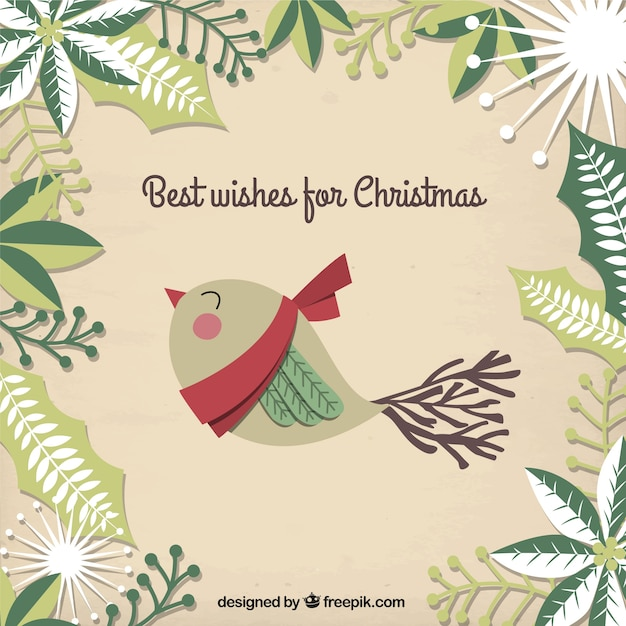 Best Wishes For Christmas Card Vector Free Download