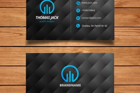 Black and blue modern business card template Vector   Free Download Black and blue modern business card template Free Vector