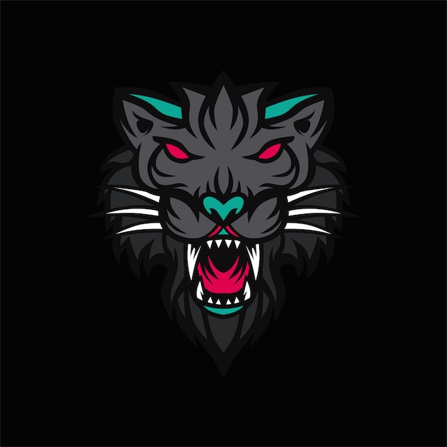 Premium Vector Black Tiger Logo Vector