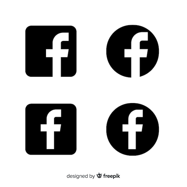 Black And White Facebook Icon Images Free Vectors Stock Photos Psd